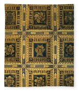Gold Cathedral Ceiling Italy Fleece Blanket