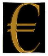 Gold Euro  Fleece Blanket