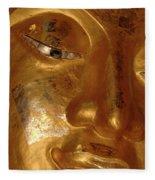 Gold Face Of Buddha Fleece Blanket