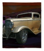 Gold Hot Rod Fleece Blanket
