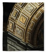 Gold Inlay Arches St. Peter's Basillica Fleece Blanket