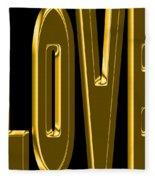 Gold Love Fleece Blanket