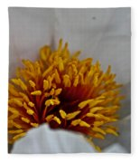 Gold Stamen Fleece Blanket