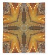 Golden Abstarct Energy Fleece Blanket