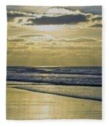 Golden Blue Fleece Blanket