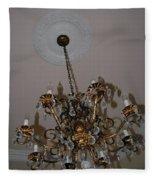 Golden Chandelier Fleece Blanket