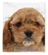 Golden Cockerpoo Puppy Fleece Blanket