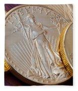 Golden Coins II Fleece Blanket