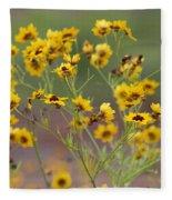 Golden Coreopsis Tickseed Wildflowers Fleece Blanket