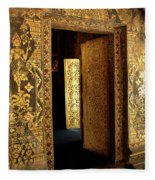 Golden Doorway 2 Fleece Blanket