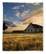 Golden Evening Fleece Blanket