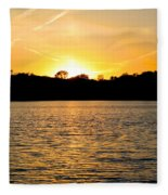Golden Evening Fleece Blanket