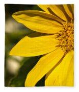 Golden Flower 1 Fleece Blanket