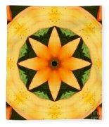 Golden Flower 2 Fleece Blanket