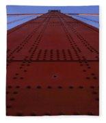 Golden Gate Bridge Vertical Fleece Blanket