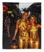 Golden Girls Of Bourbon Street  Fleece Blanket