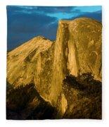 Golden Half Dome Fleece Blanket