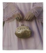 Golden Handbag Fleece Blanket