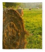 Golden Hay Field Fleece Blanket