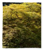 Golden Japanese Maple Fleece Blanket