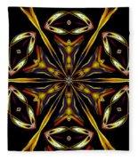 Golden Kaleidoscope Fleece Blanket