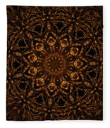 Golden Mandala 4 Fleece Blanket