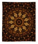 Golden Mandala 6 Fleece Blanket