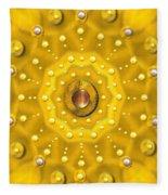 Golden Mandala With Pearls Fleece Blanket