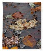 Golden Maple Dew Drops Fleece Blanket