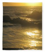 Golden Maui Sunset Fleece Blanket