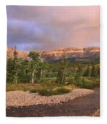 Golden Montana Mountain Fleece Blanket