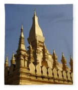 Golden Palace Laos 2 Fleece Blanket