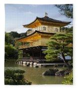 Golden Pavilion, A Buddhist Temple Fleece Blanket