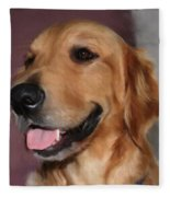Golden Retriever Fleece Blanket