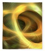 Golden Rings Fleece Blanket