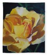 Golden Showers Rose Fleece Blanket