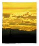 Golden Skies Fleece Blanket