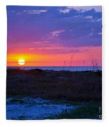 Golden Sun Fleece Blanket
