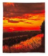 Golden Sunrise Fleece Blanket