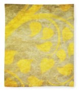 Golden Tree Pattern On Paper Fleece Blanket