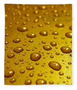 Golden Water Drops. Business Card. Invitation Etc. Fleece Blanket