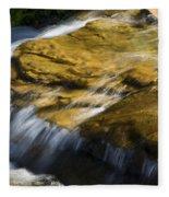 Golden Waterfall Glacier National Park Fleece Blanket