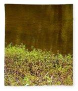 Golden Water's Edge Fleece Blanket