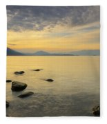 Golden Waters Fleece Blanket
