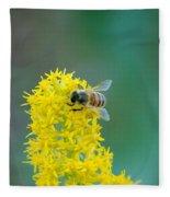 Goldenrod Visitor 3 Fleece Blanket