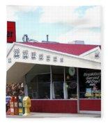 Goldie's Route 66 Diner  Fleece Blanket