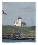 Golf At The Hudson Fleece Blanket