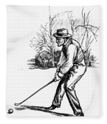 Golf, C1920 Fleece Blanket