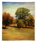 Golf Course II Fleece Blanket