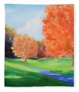 Golf Course In The Fall 1 Fleece Blanket